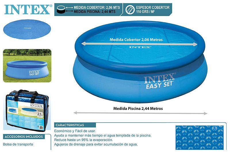 29020-COBERTURA SOLAR PISCINA EASY SET 244CM