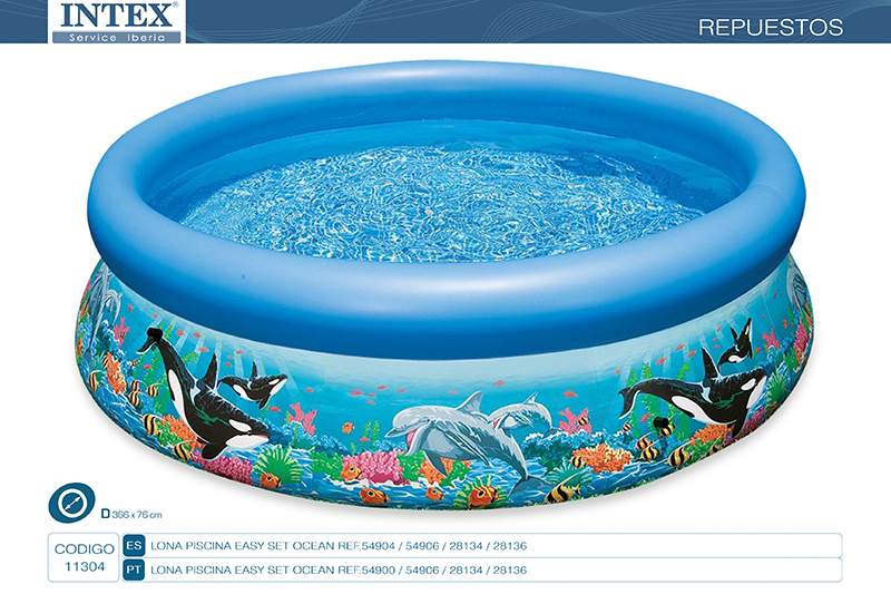 11304-LONA PISCINA EASY SET OCEAN REEF 366X76CM
