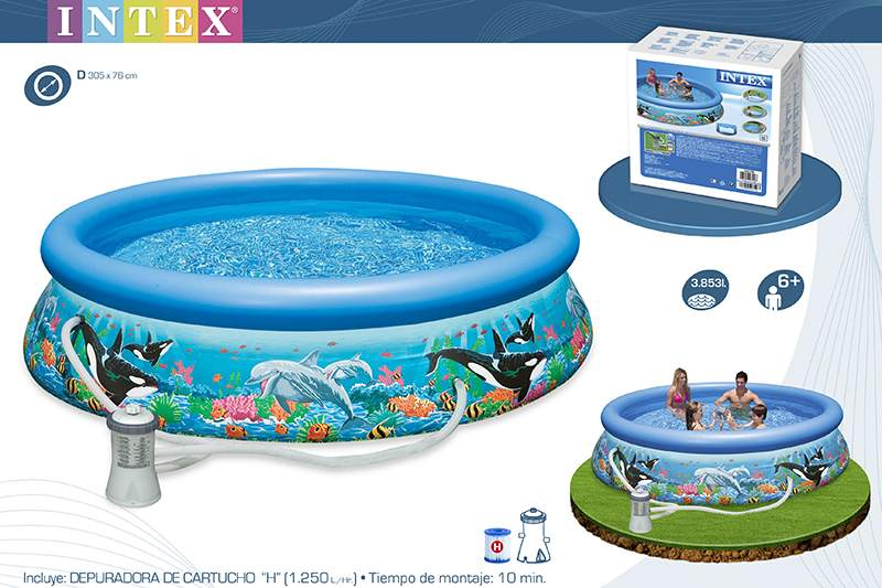 28126-PISCINA OCEAN REEF EASY SET 305X76CM C/BOMBA