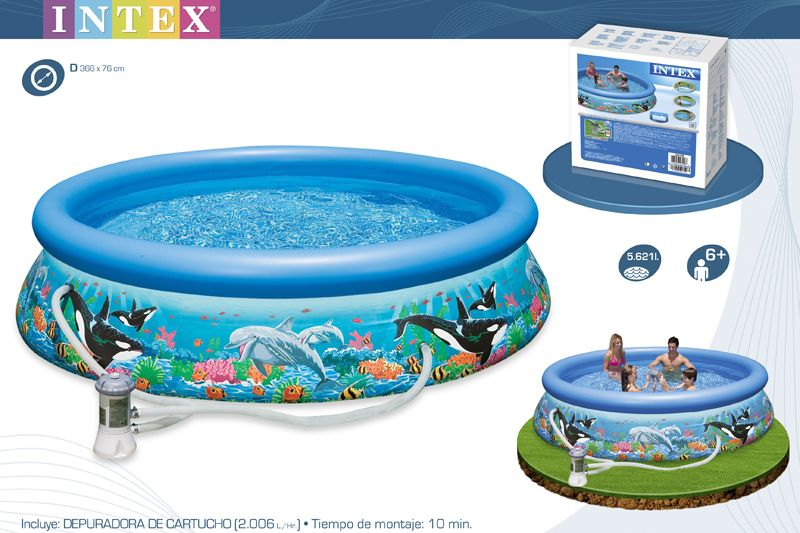 28136-PISCINA OCEAN REEF EASY SET 366X76CM C/BOMBA
