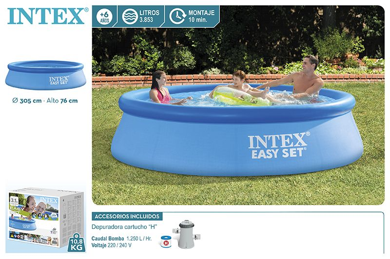 28122-PISCINA EASY SET 305X76CM COM BOMBA 1250L/H