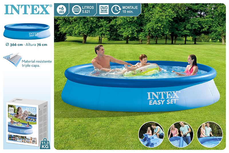 28130-PISCINA EASY SET 366X76CM S/BOMBA 5621L