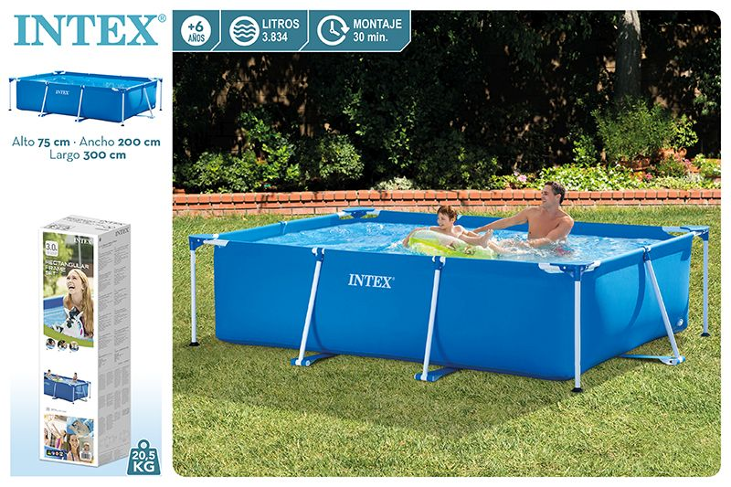 28272-PISCINA SMALL FRAME FAMILIAR 300X200X75CM 3834L